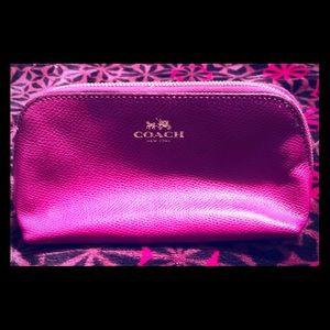 Coach Purpleish cosmetic case
